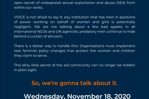 text of the poster with the description of the webinar topic